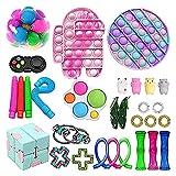 Fidget Toys Pack, Push Bubble Simple Dimple Sensory Fidget Toy Box Set di Giocattoli Sensoriali Fidget Giochi Palla Antistress Mochi Toy Kit per Bambini Adulti