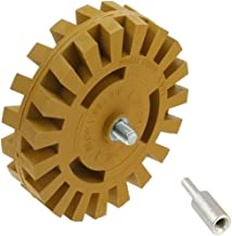 Pegatina adhesiva de goma para rueda de 4 pulgadas con adaptador de taladro para quitar rayas, pegatinas, adhesivos de vinilo adhesivo (26 mm)