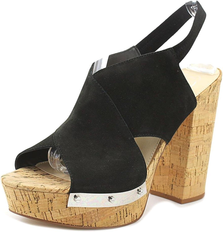 Fergie Womens Lunar Open Toe Cork Platform Sandals