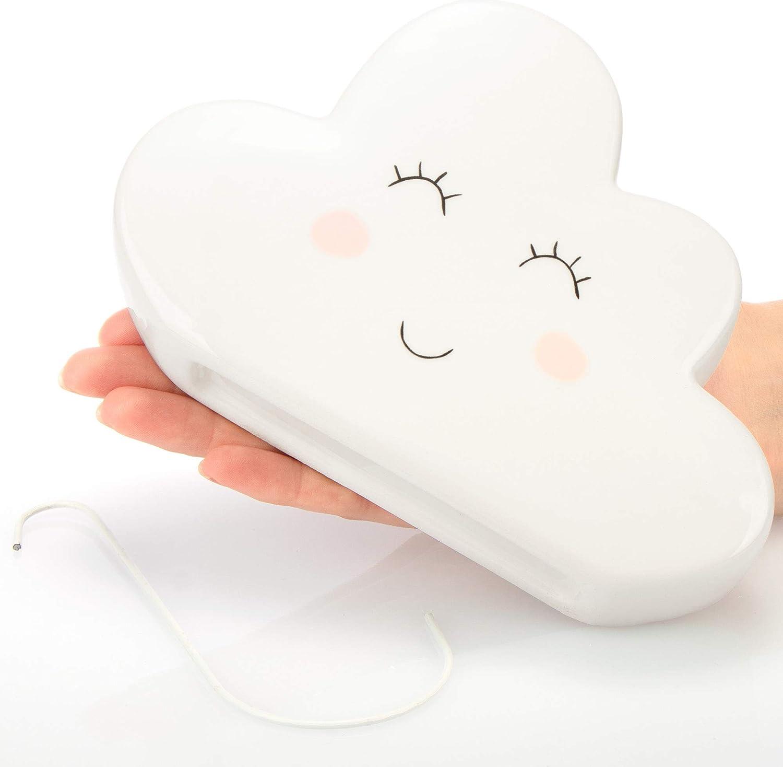 300 ml evaporatore dellAcqua di Riscaldamento in Ceramica con Divertente Design a Nuvola com-four/® 3X umidificatore dAria riscaldante radiatore umidificatore dAria Nuvola Nube