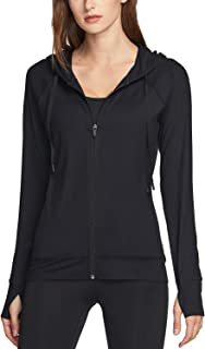 TSLA Women's Full Zip Running Track Jackets, Lightweight Athletic Workout Jackets, Active Sports Yoga Jacket