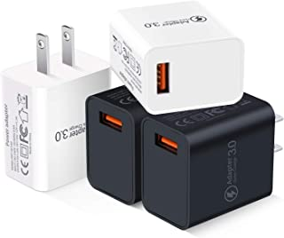 Quick Charge 3.0 Adapter, Besgoods 4-Pack 18W QC 3.0 Wall Charger Block Travel Phone Charger USB Plug Compatible with Wireless Charger, Samsung Galaxy S9 S8/ Note 8 9, iPhone, iPad, LG G6 / V30, HTC