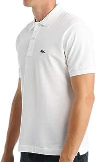 Lacoste Men's Classic Short Sleeve L.12.12 Pique Polo Shirt,White,Large
