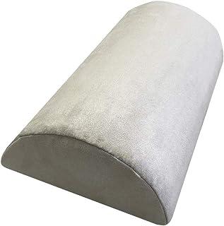 Almohada cervical de espuma viscoelástica, para cama y sofá, cojín lumbar, 39 x 21 x 11 cm, color beige