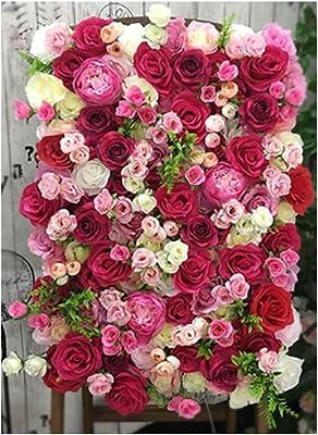 Liu 造花壁パネル40x60cm /個 シルクフラワー生地の不規則な手描きの花、 ウェディングショップの背景の壁の装飾 (Color : B, Size : 8pack)