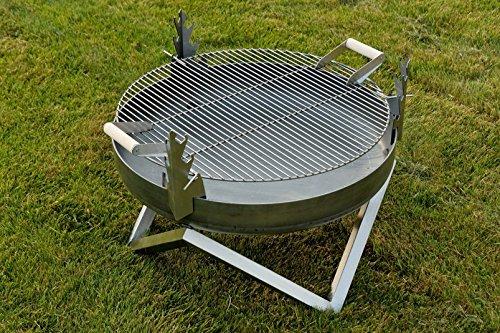 Acero Fire Pit y barbacoa YANARTAS - diseño contemporáneo