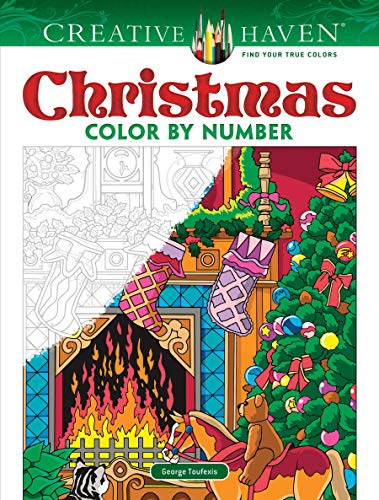 Creative Haven Christmas Color by Number (Creative Haven Coloring Books)