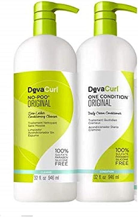 Devacare no-poo 32 fl oz + devacare one condition 32 fl oz liter duo by devacurl DEVA77777x02