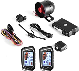 BANVIE 2 Way Car Security Alarm System (Without Remote Starter)
