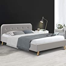 Artiss Pola Bed Frame Fabric - Beige Double
