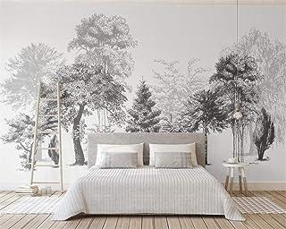 mural de papel tapiz costom mural estilo de dibujo en blanco y negro abstracto moderno TV fondo pared 3d papel tapiz mural-360X280CM
