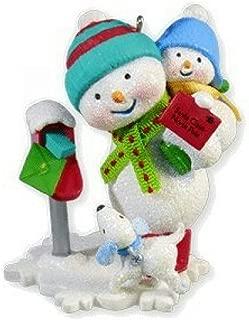 Hallmark Keepsake Ornament Santas Wish List Letter 3rd in Series 2010