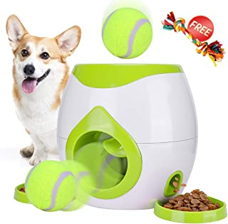 Pet Interactive Toys Dogs Puzzle Food Dispenser Tennis Ball Throwing Fetch Machine FDA Cat Reward Toy Game Animal Training Tool Pets Slow Feeder Bowl
