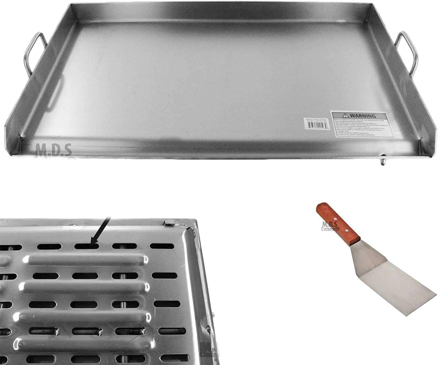 Griddle Stainless Steel Special price for a limited time Flat Top brackets under reinforced Max 76% OFF With