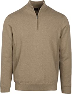 Men's Performance Blend Lined 1/4-zip Wind Golf Sweaters