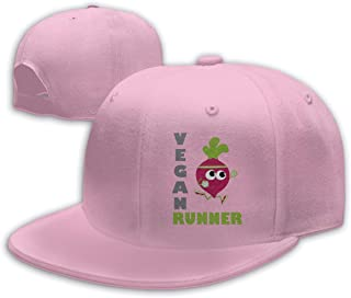 Aiguan Vegan Runner, Running Beet Flat Visor Baseball Cap, Fashion Snapback Hat Navy