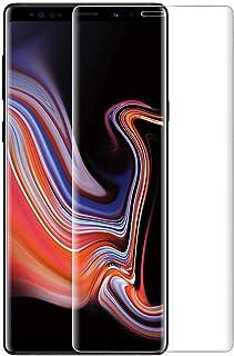 Samsung Galaxy Note9 ガラスフィルム Samsung ギャラクシー Note9 フィルム 3D曲面保護 硬度9H 日本製素材旭硝子製 強化ガラスフィルム 99%高透過率 気泡防止 スクラッチ防止 飛散防止処理 防指紋 自動吸着