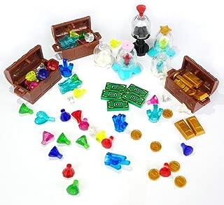 Treasure Set Block Brick Building Compatible Major Brands Chest Diamonds Ore Coin Gold Bars Block Toy
