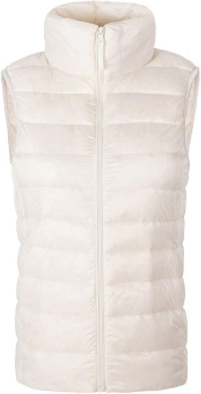 Women's Padded Vest Stand Collar Padded Vest Water Resistant Quilted Gilet Sleeveless Jackets for Lady Outerwear