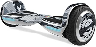 MightySkins Carbon Fiber Skin for Razor Hovertrax 1.5 Hover Board - Gray Camouflage | Protective, Durable Textured Carbon ...