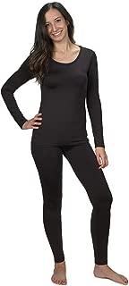 Women's Ultra Soft Thermal Underwear Long Johns Set with Fleece Lined