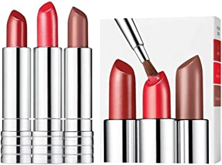Clinique 3 Piece Long Last Lipstick Set (15 All Heart 0A Runway Coral 12 Blushing Nude)