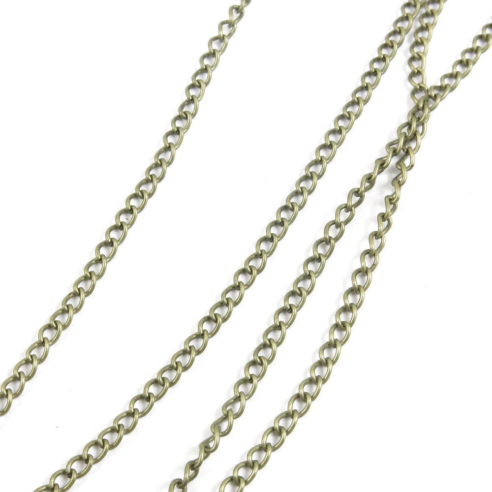 120 Cheap sale PCS Jewelry Making Chains Spasm price Jew Antique Bronze Ancient Fashion
