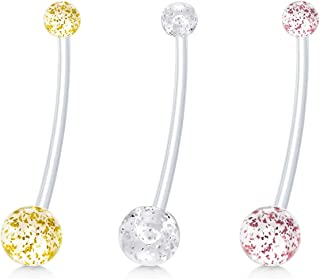 Best flexible belly button rings for sports Reviews