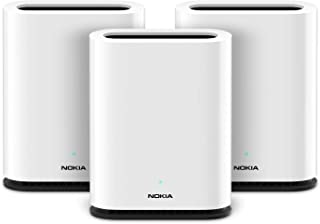 Nokia WiFi Beacon 1: high Performance Whole Home WiFi mesh System; Replaces Your existing Router; Supports AC1200 throughput and resolves WiFi Interference Issues – Trio (3-Pack)