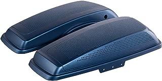 Advanblack Legend Blue Denim Dual 6x9 inch Saddlebag Speaker Lids Fit for 2014+ Harley Road Glide Hard Saddlebags/Advanblack Stretched Bags