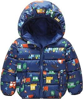 17018c3330 Bambino Piumino con Cappuccio Bambini Cappotto Giubbotti Invernale Giù Giacca  per Ragazzi Ragazze Cotone Imbottito Antivento