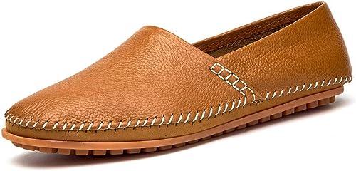 MSSugar Herren Mokassins Leder Slipper Slip-on Casual Fahrer Flache Stiefelschuhe Mode Faule Schuhe