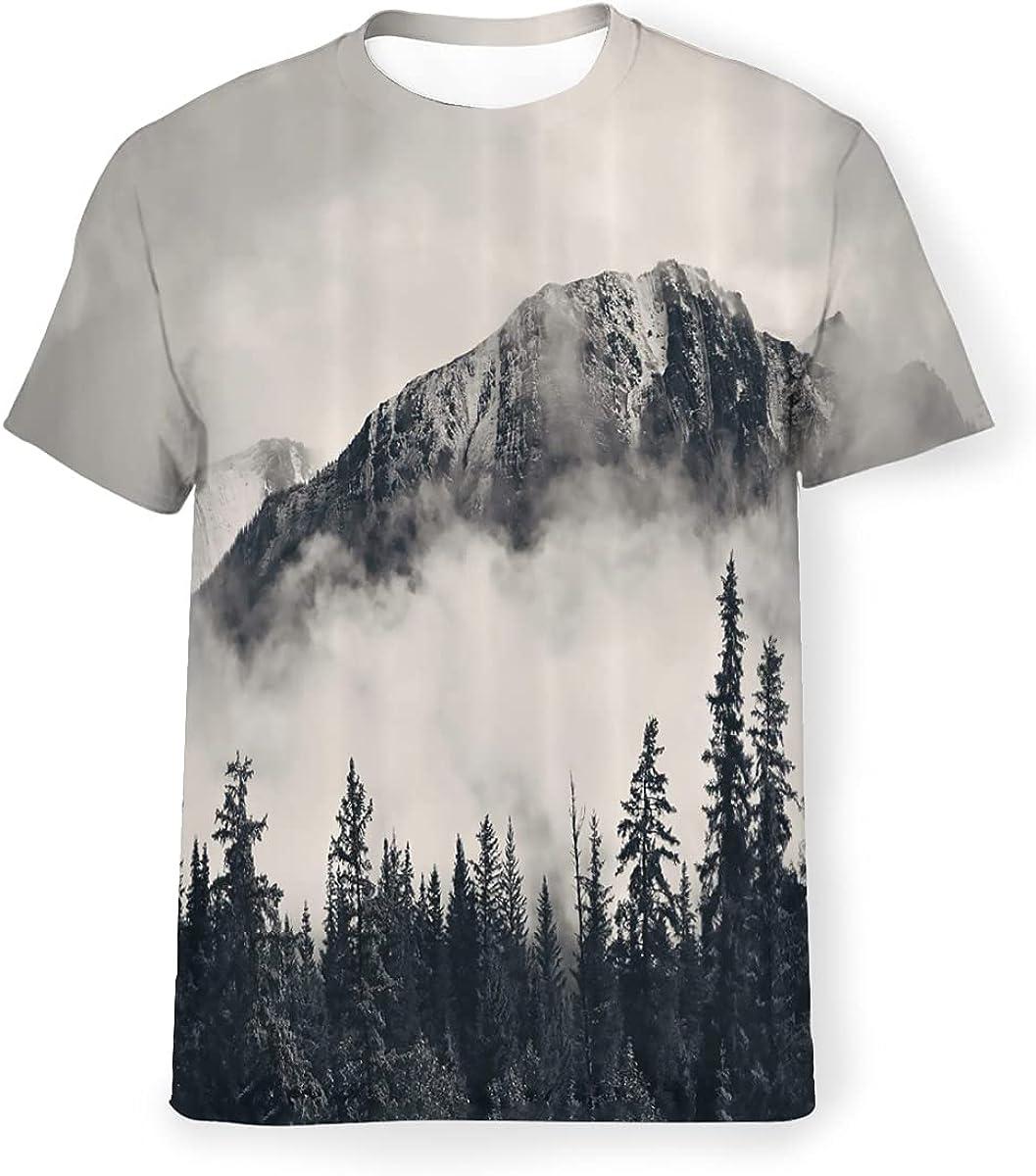 gtdvnyi Summer Men T-Shirts 3D Printing Crewneck Short Sleeve Hawaiian Holiday Top Tees