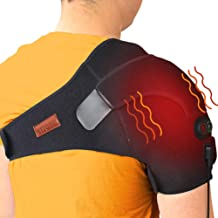 sticro Shoulder Massage Heating Pad, 3 Vibration & Temperature Setting, Low Voltage Heated Brace Wrap for Dislocated/Frozen Shoulder, Arthritis, Rotator Cuff Bursitis Pain Relief Hot Therapy