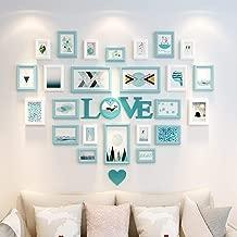 Photo Wall Creative Living Room Blue Decorative Gift Modern Art Photo Frame Photo Wall (Color : A)