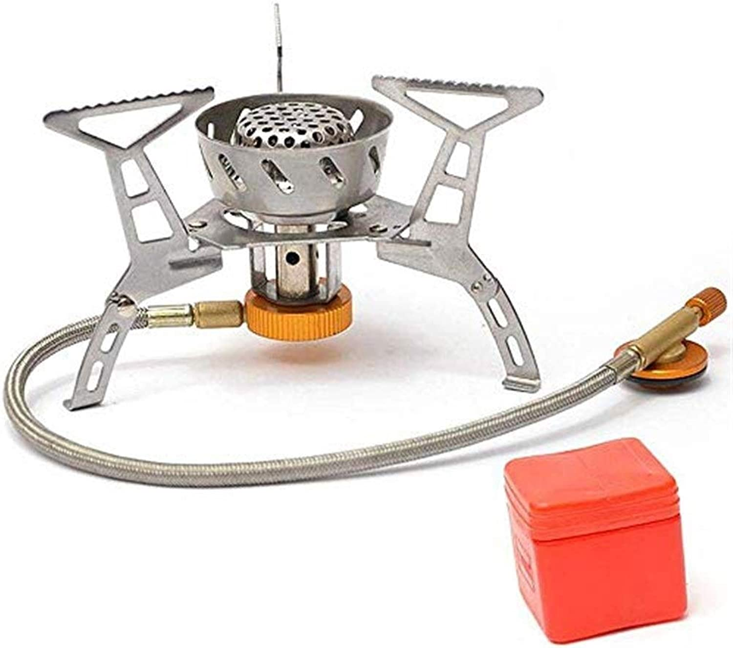 Camping Cooking Utensil Camping Stove, Mini Split Collapsible Windproof Outdoor Burner Fierce Gas Stove Suitable for Camping Outdoor Activities Hiking Hiking Mountaineering Grill Stove
