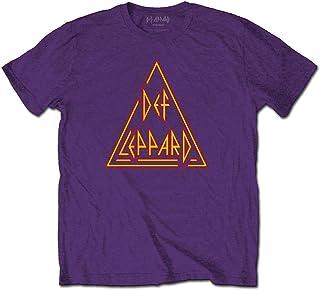 Générique Def Leppard 'Classic Triangle Logo' (Violet) T-Shirt
