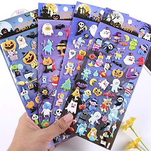 Creativo Divertido Halloween Calabaza Bruja PVC 3D Pegatina decoración Diario Scrapbooking Etiqueta Pegatina Kawaii papelería Pegatina