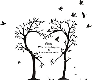 heart tree wall decal