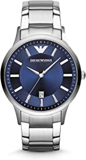 Emporio Armani Gents Wrist Watch, Silver