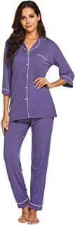 Women's Pajamas Soft Cotton Sleepwear Casual Nightwear Loungewear Pj Sets S-XXL