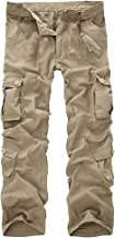 iYYVV Mens Fashion Casual Cotton Multi-Pocket Outdoors Work Trouser Long Cargo Pants