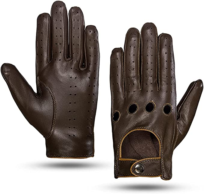 Men's Steampunk Accessories: Googles, Cane, Gloves Mens Touchscreen Unlined Leather Driving Gloves  AT vintagedancer.com