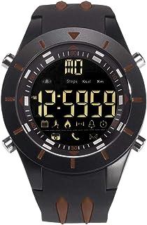 Men's Sports Analog Quartz Watch,Dual Display Waterproof Digital Men's Sports Analog Quartz Watch,Dual Display Waterproof Digital Watches with LED Backlight- Black coffee color