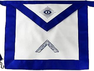 Masonic Apron Synthetic Leather Worshipful Master Blue Lodge Apron
