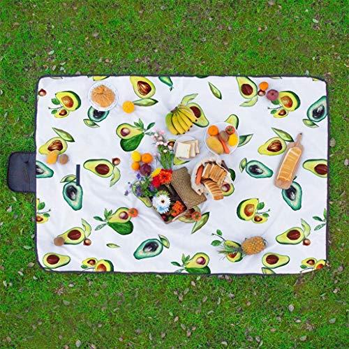 Scrolor Picknickdecke Sitzkissen wasserdichte Outdoor Camping Teppich Falten Travel Beach Mat Bunte Blumendruck