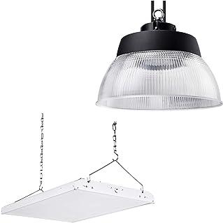 LEONLITE 165W High Bay Shop Light Bundle 150W UFO High Bay Light, 2ft 165W Dimmable 21,450lm LED Linear High Bay Shop Light & 150W Dimmable 19,500lm Industrial Lighting with Detachable Reflector