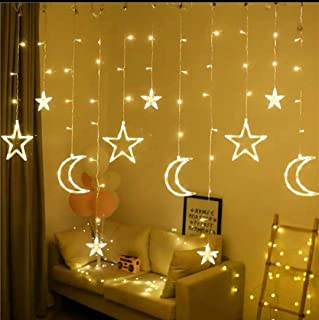 Led String Lights Stars Shaped And Moon Curtain Decorative Lights Holiday Decoration Ramadan Gift