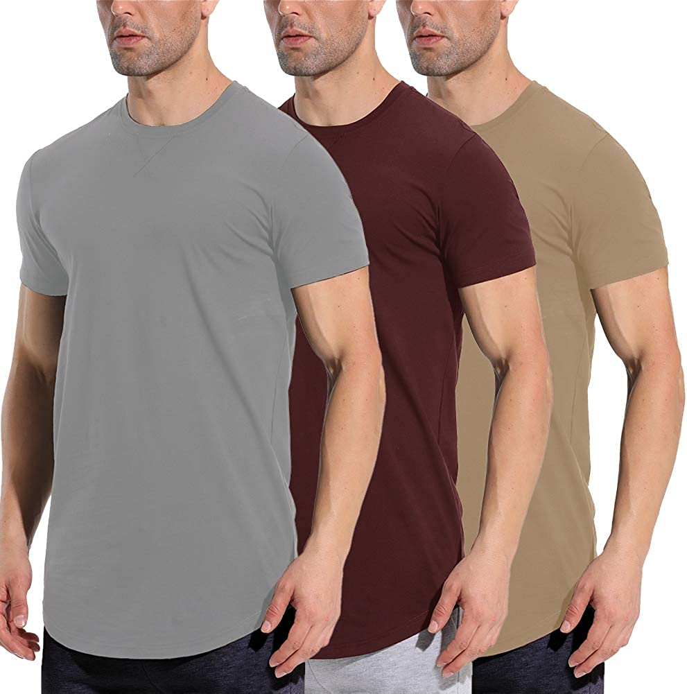 LETAOTAO Mens Workout Shirts Hipster Ranking TOP8 Slim Fit Super beauty product restock quality top Longline T-Shirts