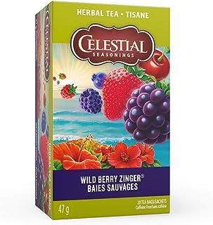 Celestial Seasonings Herb Tea Wild Berry Zinger, 20-count (Pack of 6)